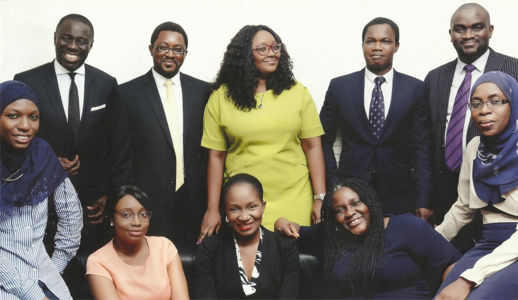 (Banwo & Ighodalo Team) Standing from left: Asue Ighodalo (Partner), Olumide Osundolire (Senior Associate), Aramide Sanni (Associate), Isa Alade (Senior Associate), Kehinde Ojuawo (Partner). Sitting from left: Afeesat Atanda (Associate), Ayodele Faboya (Associate), Tomisin Ojuawo (Associate), Ayotunde Owoigbe (Partner), Azeezah Muse-Sadiq (Senior Associate)