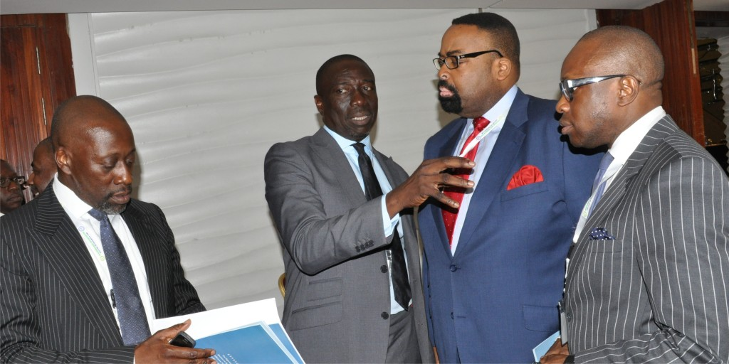 SBL Secretary, Seni Adio, Chairman, Asue Ighodalo, SBL Vice Chairman, Olu Akpata, and Exco member, Mena Ajakpovi, in a discussion during the 2015 SBL Annual Conference in Lagos
