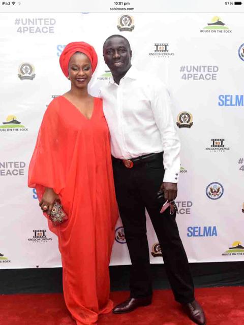 Mrs. Ifeyinwa Ighodalo and her husband, Asue