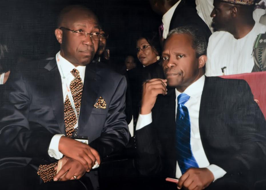 Chief Wole Olanipekun, OFR, SAN, and Vice President of Nigeria, Prof. Yemi Osinbajo, GCON.