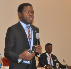 Goodnews Daniel delivering his papers during the Young Lawyers Forum at the 2017 AFBA Annual General Conference in Port Harcourt, Rivers State