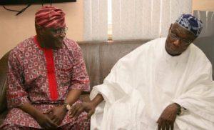 Former Vice President Atiku Abubakar and Former President, Olusegun Obasanjo