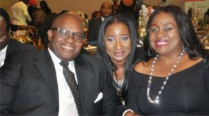 George Etomi, his wife, Efe Etomi and Ms. Wola Joseph during the