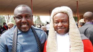 Imo State Governor, Rochas Okorocha and Imo State Chief Judge, Justice Paschal Nnadi