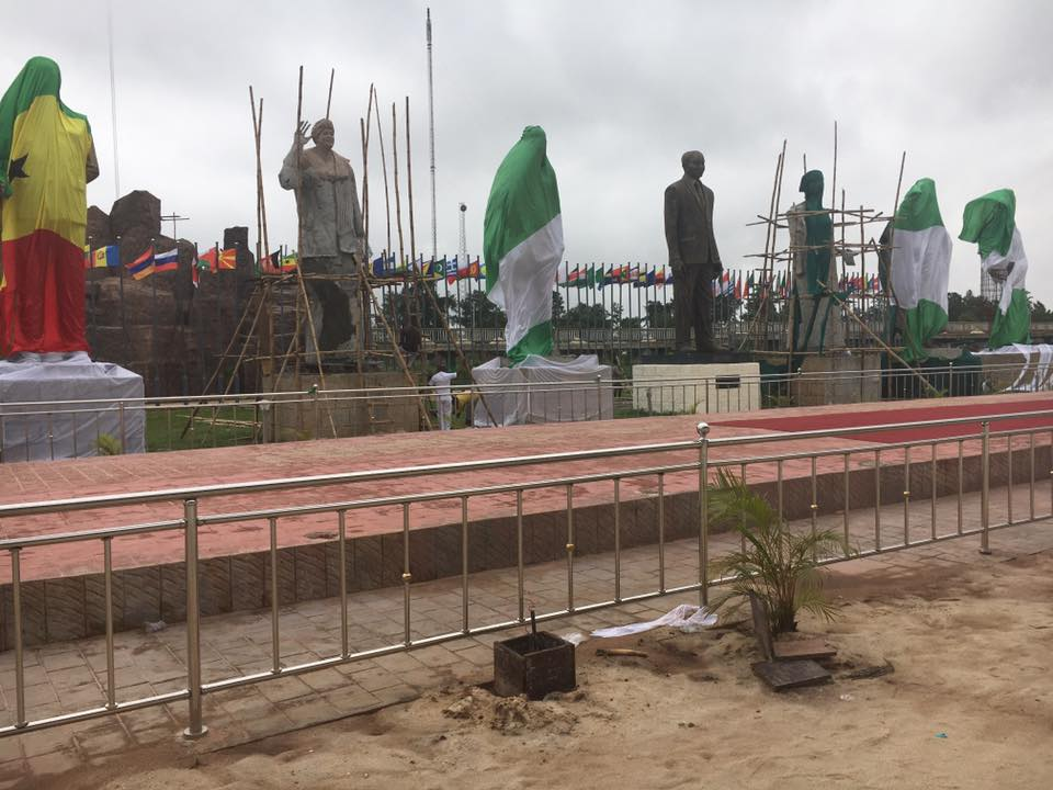 Statues of African Presidents erected by Gov. Rochas Okorocha