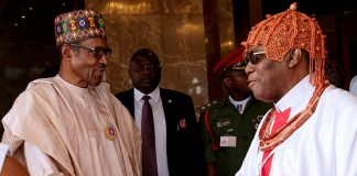 President Buhari meets Oba of Benin