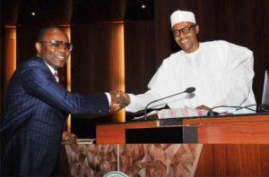 Ibe Kachikwu and president Buhari