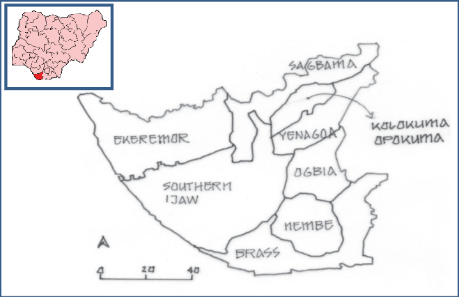 Map of Bayelsa State
