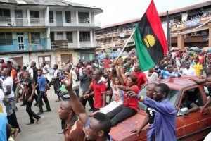 IPOB members on solidarity march