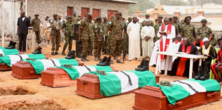 Burial of 11 slain soldiers in Kaduna