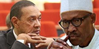 Senator Ben Murray-Bruce and President Muhammadu Buhari