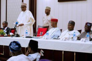 Buhari - APC caucus meeting