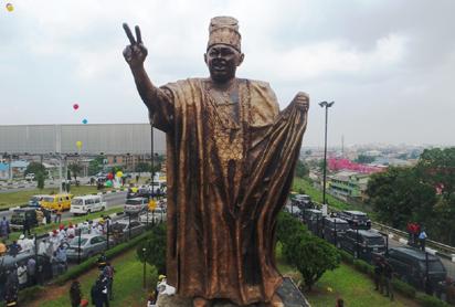 Chief M.K.O Abiola Statue