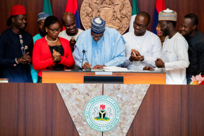 NOT-TOO-YOUNG Buhari Signed bill
