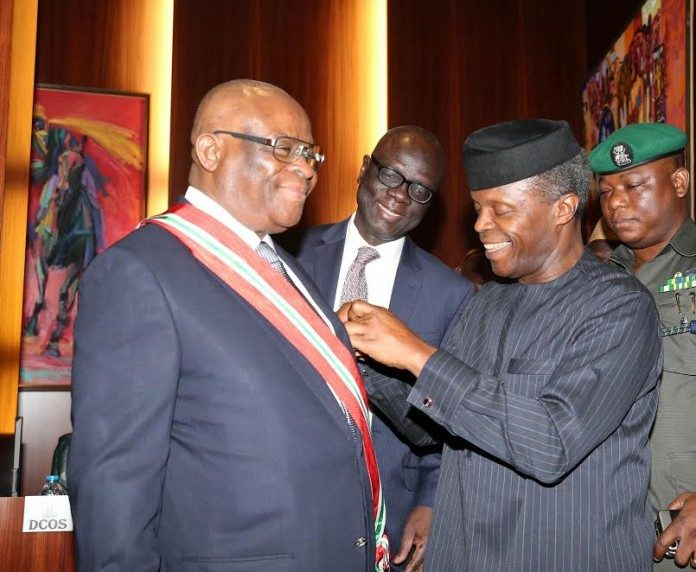 Justice Walter Onnoghen and Vice President Yemi Osinbajo