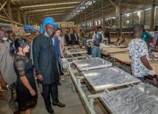 Obaseki's visit vehicle assembled site