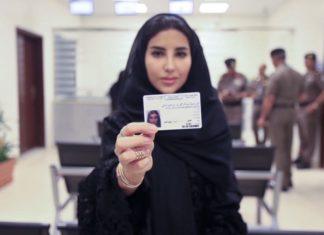 Saudi woman with driving license